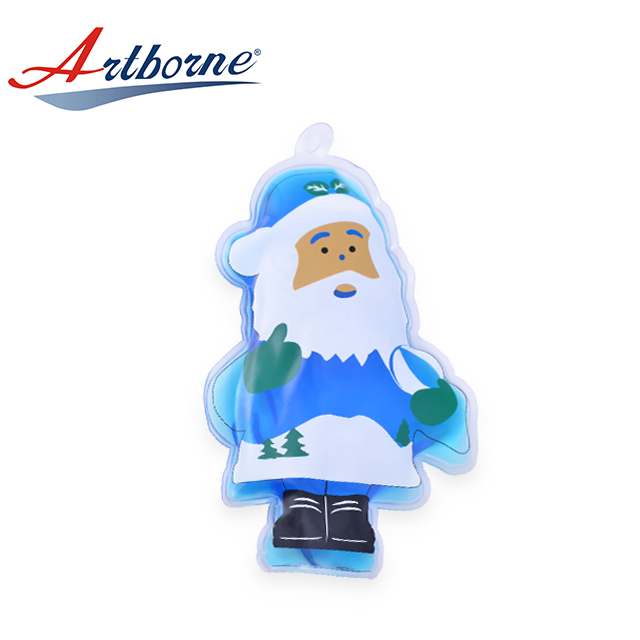 Reusable Wholesale Microwave Christmas Santa Shape Therapy Heat Cool And Warm Wireless Hand Warmer Pad Pack Patch for Health hcp21