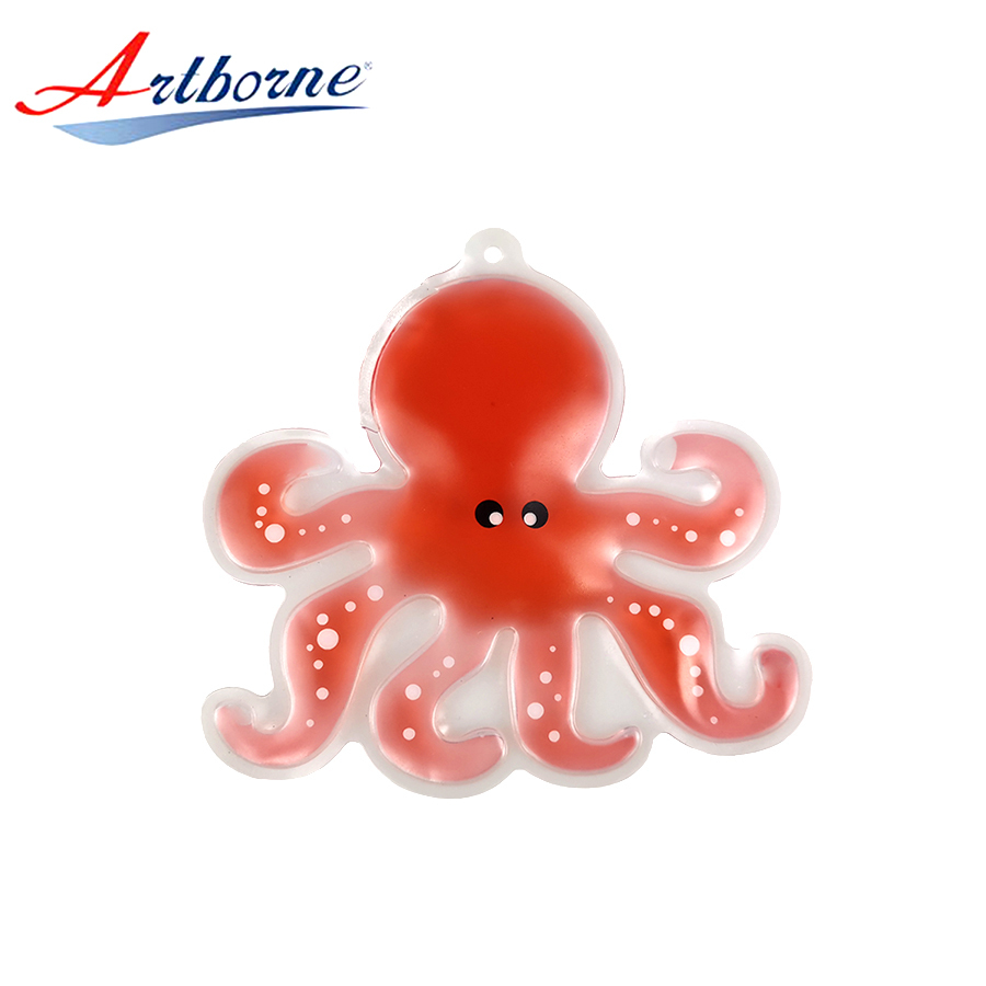 Reusable wholesale microwave gel ice hot cold therapy heat pack shaped animal or octopus for children gift as hand warmer hcp66