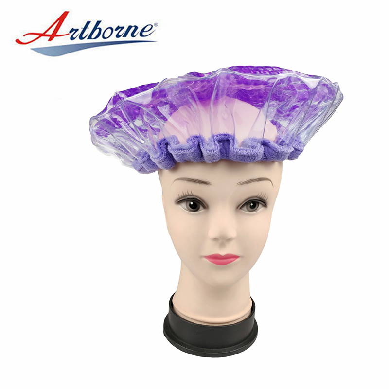 pearlie gel bead microwave heating conditioning hair care mask cap bonnet