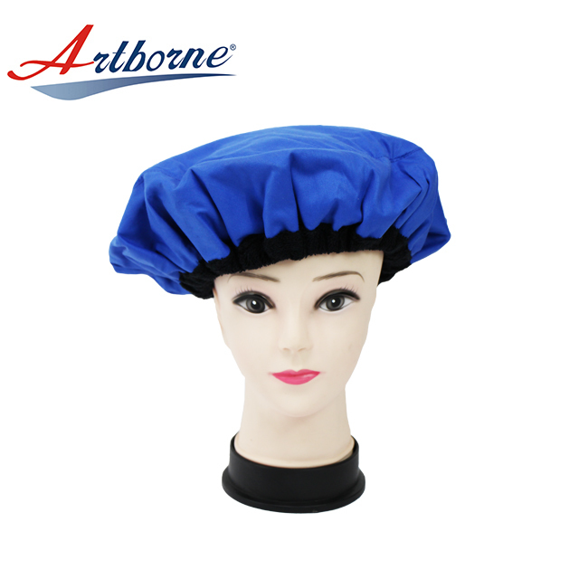 Home use Natural flaxseed linseed microwavable heat Thermal condition steaming hair care mask cap bonnet