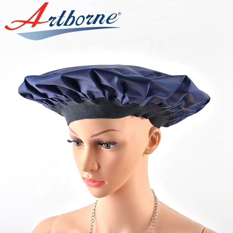 microwave heated heat Gel conditioning hair care mask cap bonnet