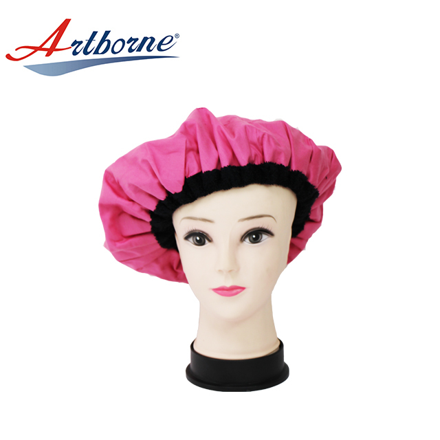 Natural Thermal microwave heated flaxseed microwavable deep conditioning hair heat heating hot hair care treatment Bonnet cap