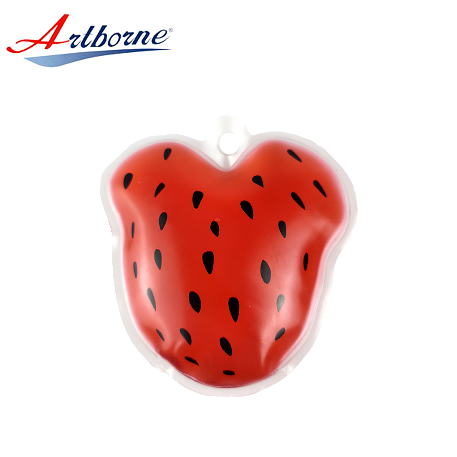 Strawberry shaped Magic gel hot cold hand warmers pads pack in bulk as Christmas business gift and skin care or health hcp33