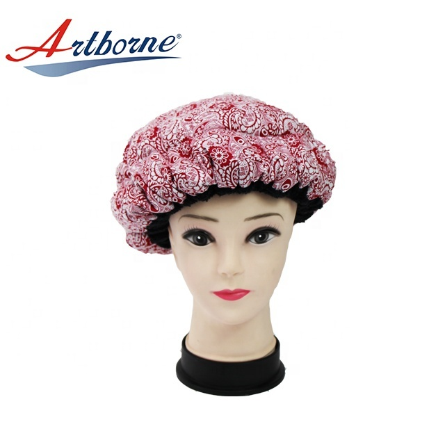 cordless Natural flaxseed linseed microwavable heated Thermal condition steaming hair care mask cap bonnet