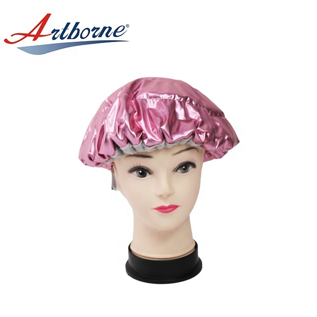 cordless Natural flaxseed linseed microwavable heated hot steaming steam hair mask cap bonnet