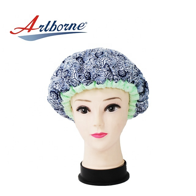 cordless Natural flaxseed linseed microwavable heated conditioning hair care mask cap bonnet