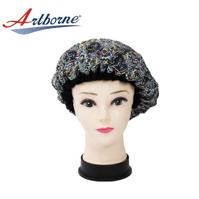 reusable Natural flaxseed linseed microwavable heated Thermal condition steaming hair care mask cap bonnet