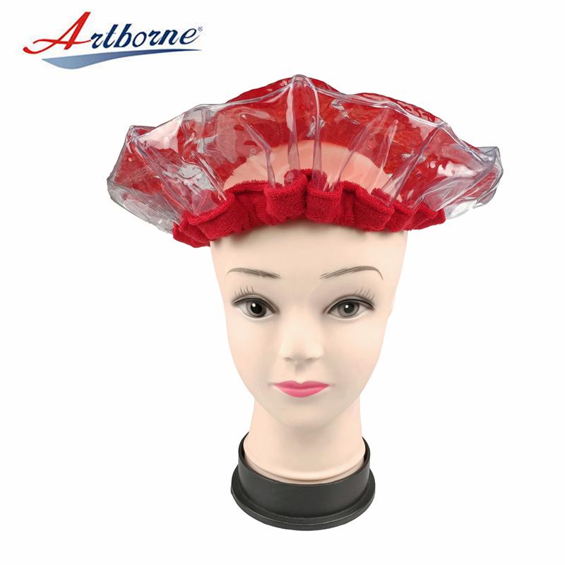 cordless pearlie gel bead microwave heat conditioning hair care mask cap bonnet