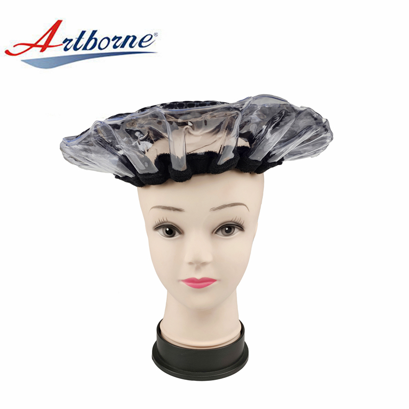 cordless pearlie gel bead microwave heat hot steaming steam hair mask cap bonnet