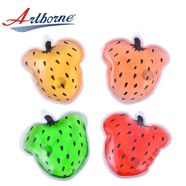 Artborne Self-heating Reusable Hand Warmer Hot Cold Pack For Christmas Gift Handwarmer Heat Cold Pad of Strawberry Shape Pack