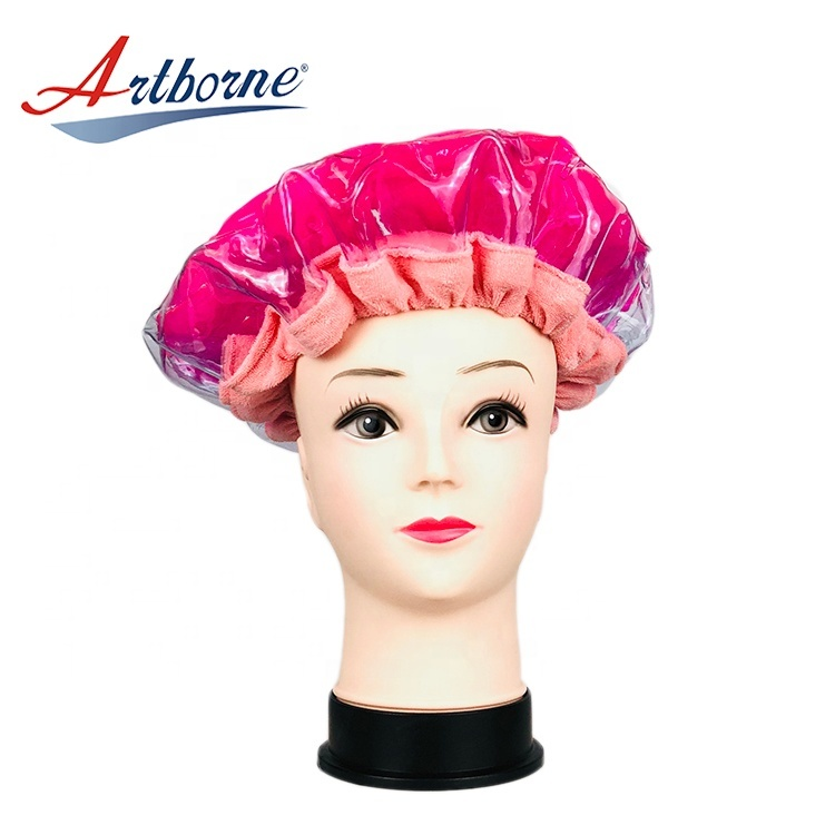 click instant heat hot steaming steam hair mask cap bonnet