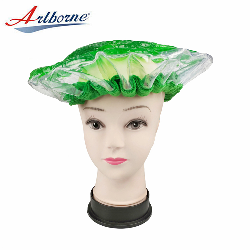 home use pearlie gel bead microwave heat conditioning hair care mask cap bonnet