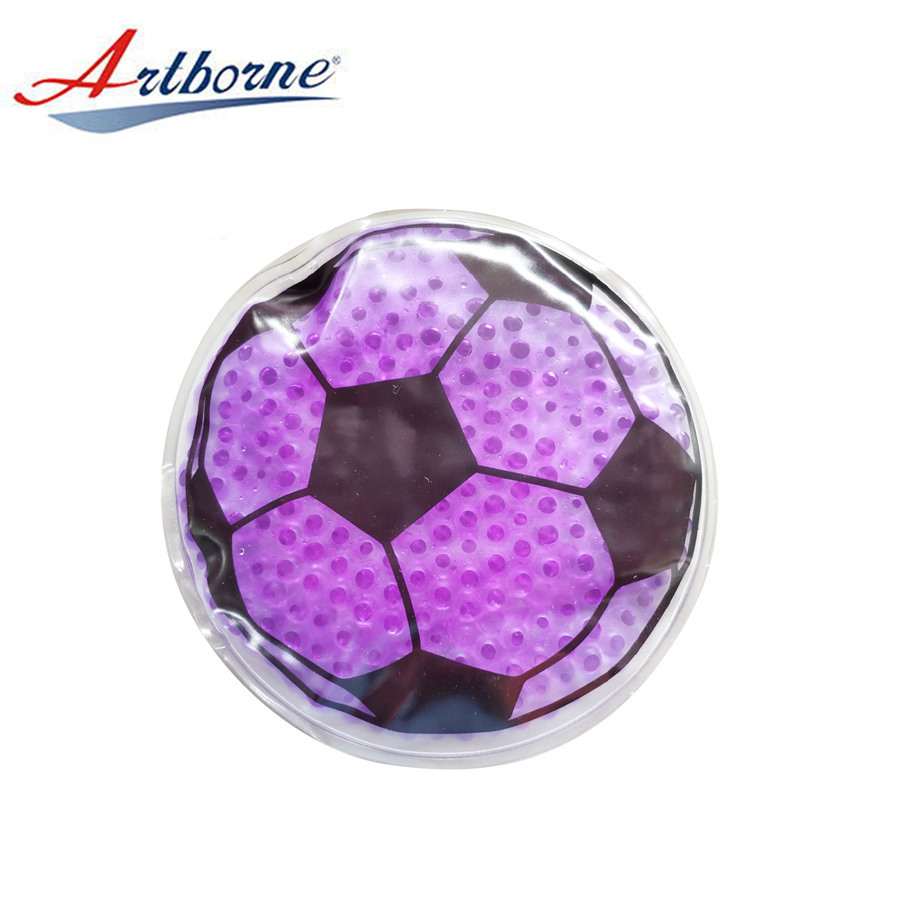 Round Shape Hot and Cold Pack Colorful Gel Beads Filling - Ideal for Tired Eyes, Kids Injuries Gel Bead Ice Pack