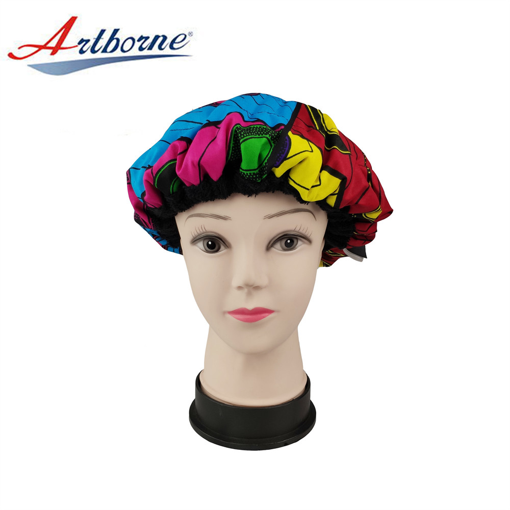 Cordless Reusable Thermal Therapy Microwavable Flaxseed Heat Heating Conditioning Hot Hat Cap Bonnet for Hair