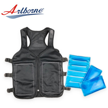 refrigerator Ice cold body cooling cool working protection from heat cold gel vest jacket with ice gel hot cool cold heat pack  IN-VS-01