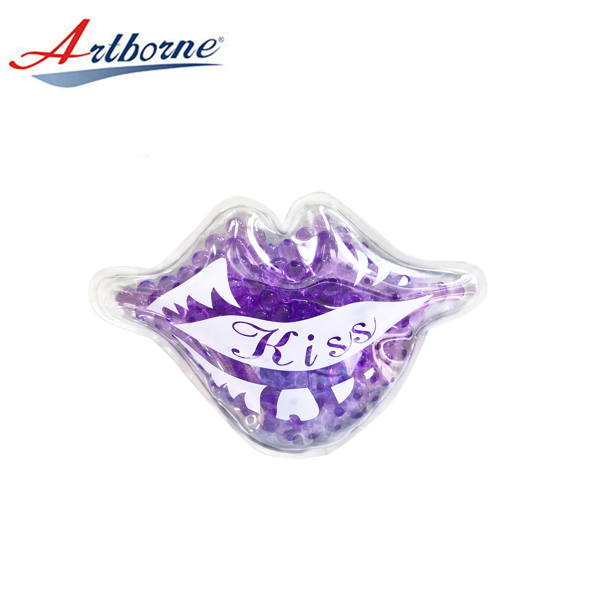 High Quality Ice Gel Beads Lip Mask Hot Cold Pack for Medical Spas Bead Ice Lip Kiss Shape Cold Reusable Therapy Pack