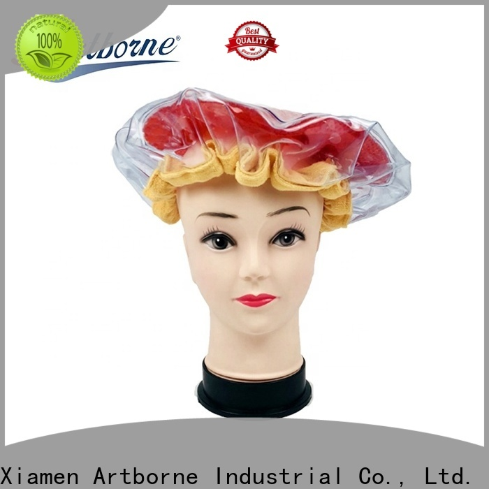 Artborne top microwavable conditioning cap company for lady