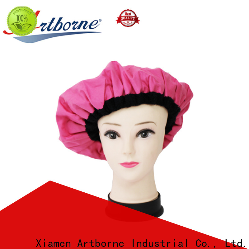 Artborne bead shower cap for deep conditioning supply for hair