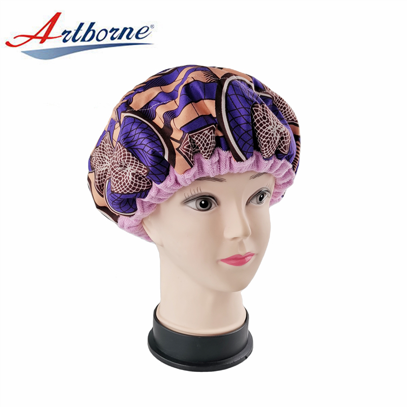 reusable Natural flaxseed linseed microwavable heated hot steaming steam hair mask cap bonnet