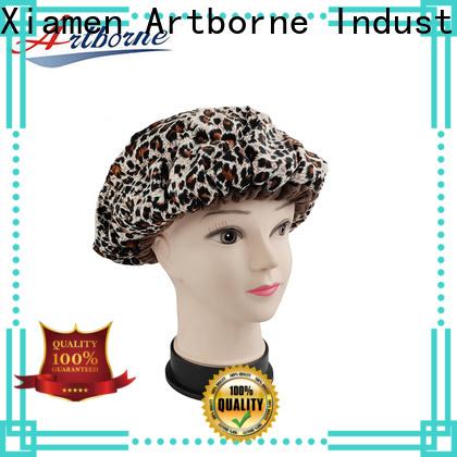 Artborne top waterproof shower cap factory for lady