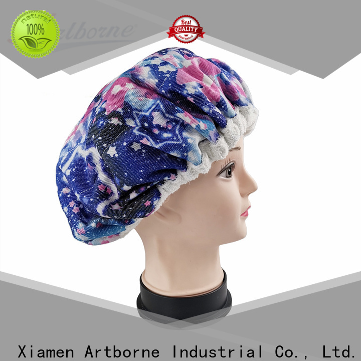 Artborne wholesale hot head thermal conditioning cap suppliers for shower
