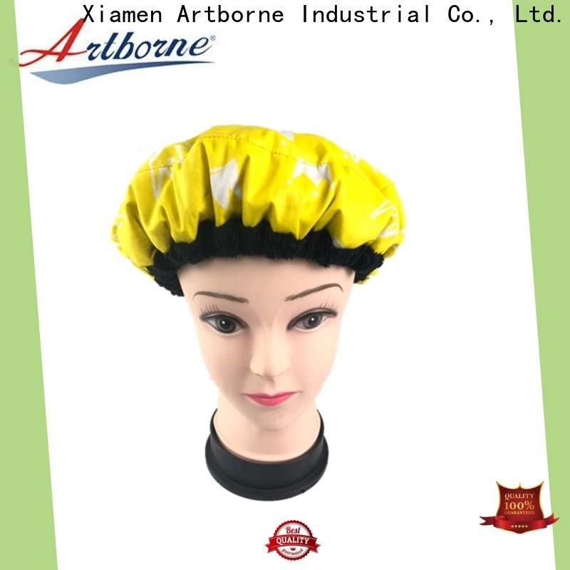 Artborne high-quality satin lined bonnet company for shower