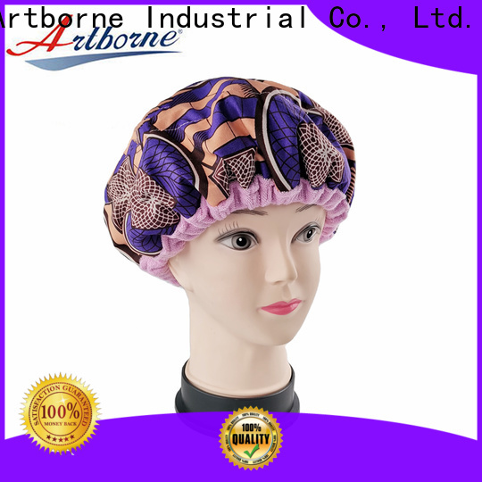 Artborne natural waterproof hair cap factory for shower