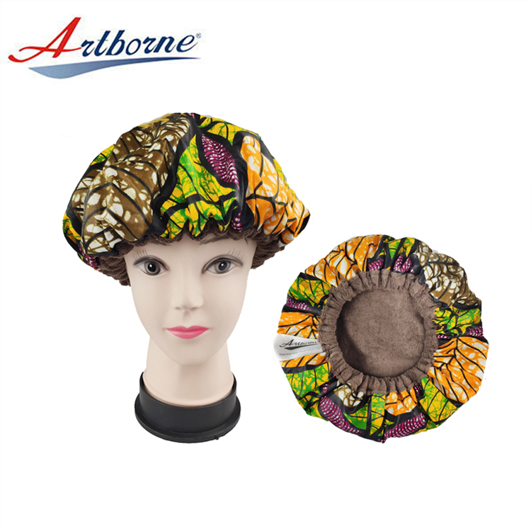 Elastic Band Protect Heat Transfer Cap Hair Bonnet Sleep Conditioner Cap With Disposable Shower Cap