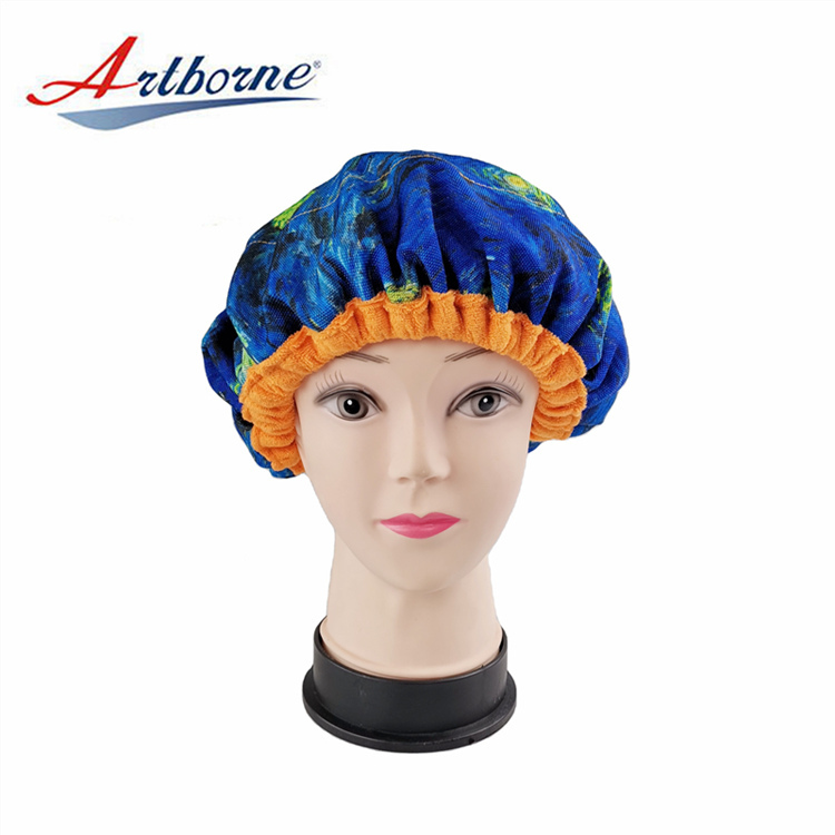 Hair Care Cap Deep Conditioning Microwavable microwave heated heating Hair care Treatment Flaxseed linseed Heat hot Cap bonnet hat Home Use Products
