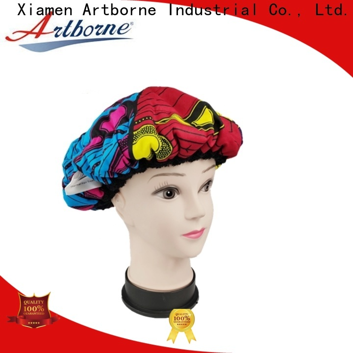 Artborne conditioning satin lined bonnet suppliers for shower
