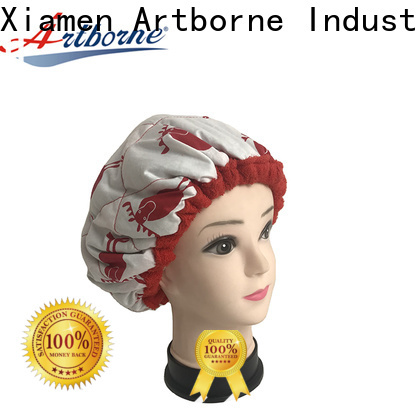 Artborne textured satin hair cap factory for shower