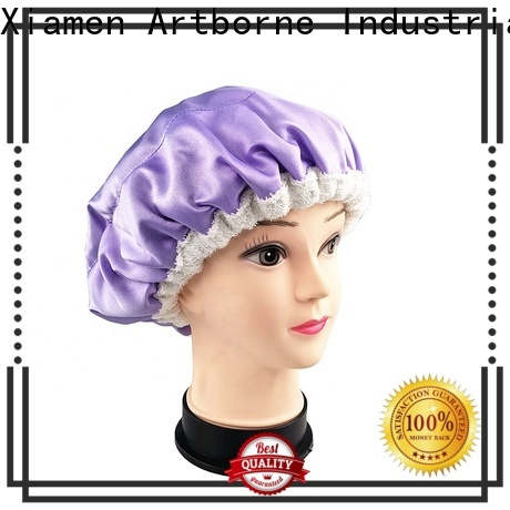 Artborne custom satin hair cap suppliers for shower