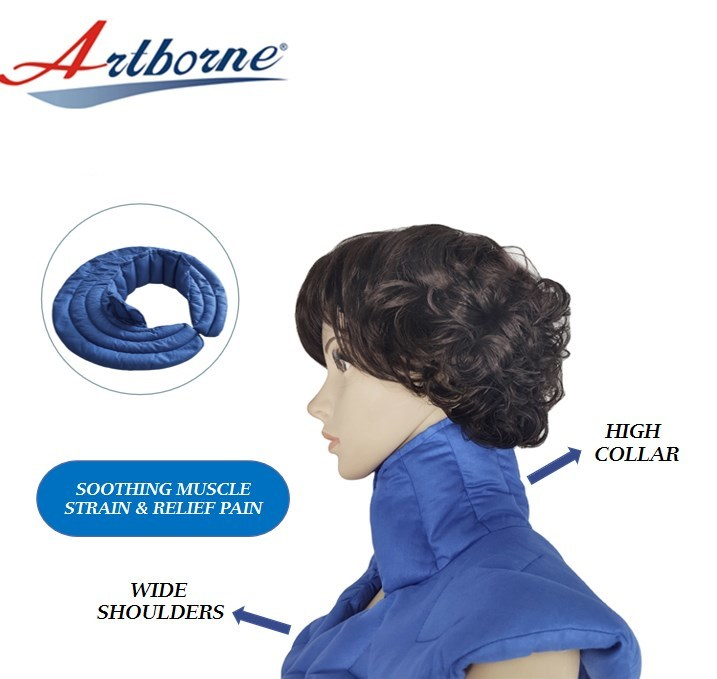 Custom Microwavable pain relief heat pack wrap heating pad for shoulder and neck pain hot compress pad for pain relief