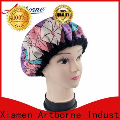 Artborne custom silk hair cap supply for shower