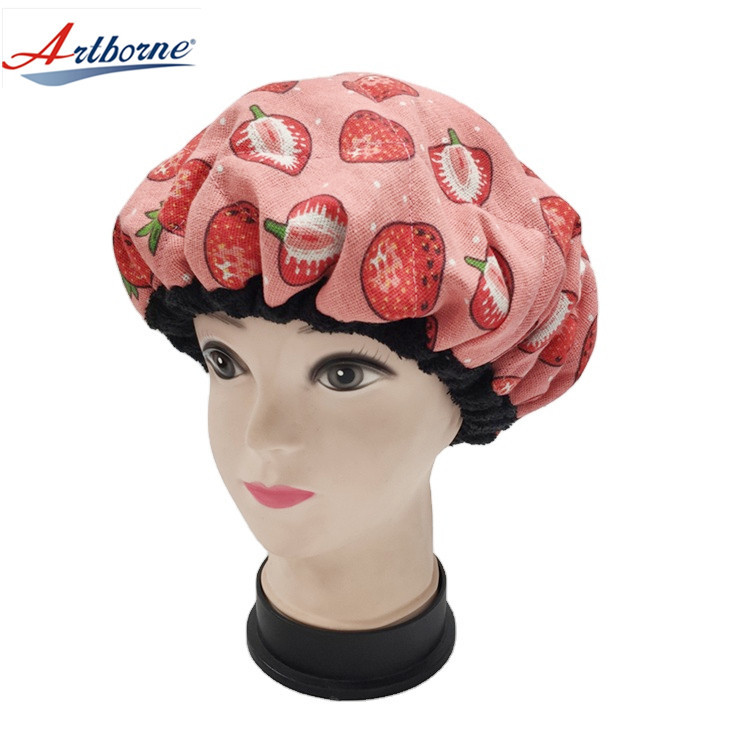 Hair Styling and Treatment Steam Cap | Heat Therapy and Thermal Spa Hair Steamer Flaxseed Hair Cap Deep Conditioning Heat Cap