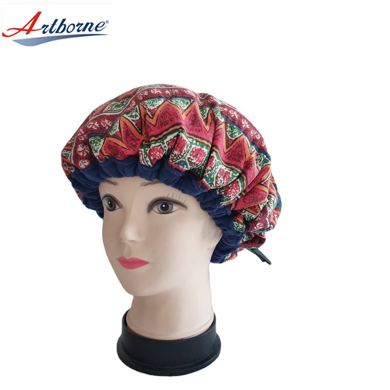 Cordless Deep Conditioning Heat Cap Microwavable Treatment Steaming Heat Cap for Thermal Spa Curly Hair 100% Natural Cotton Flaxseed Seed Interior
